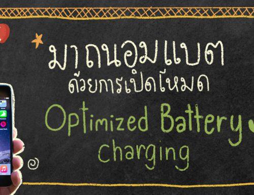 ถนอมแบต iPhone ง่ายๆแค่เปิดโหมด Optimized Battery Charging (iPad ด้วยนะ)