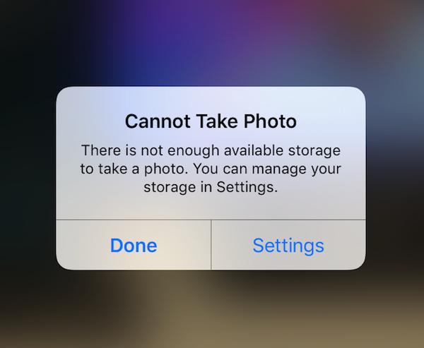 iphone not enough storage ความจำเต็ม เมม ไม่พอ