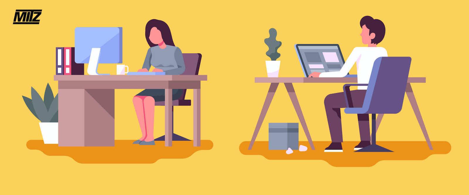 ergonomic adjustable table สี โต๊ะปรับระดับ mitz โต๊ะทำงาน เมื่อยปวดหลัง