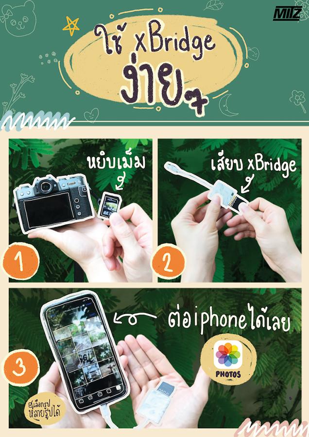 xbridge sd micro sd card reader iphone ipad ไอโฟน การ์ด รีดเดอร์ ชิพแท้ mitz