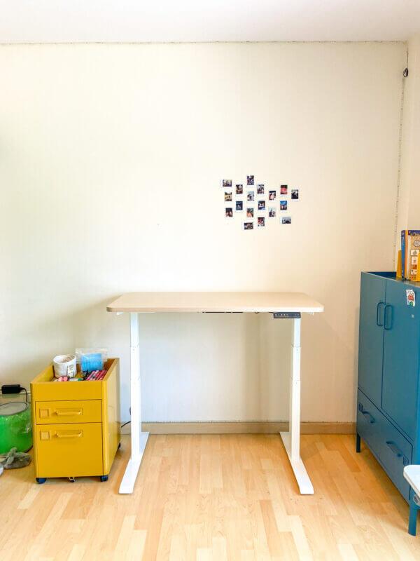 ergonomic adjustable table สี โต๊ะปรับระดับ mitz โต๊ะทำงาน เมื่อยปวดหลัง ยืน นั่ง sit stand desk