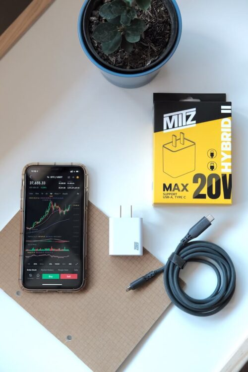 mitz hybrid adapter type c lightning iphone 20W samsung quick charge PD ชาร์จด่วน