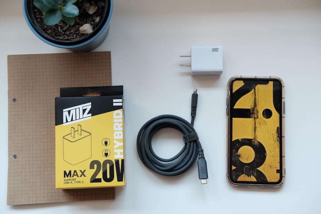 mitz hybrid adapter type c lightning iphone 20W samsung quick charge PD ชาร์จด่วน